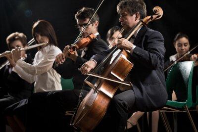 Obraz Koncert vážné hudby: symfonický orchestr na jevišti