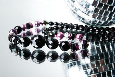 Obraz Korálek s disco koule na zrcadlo