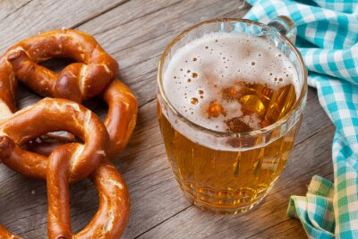 Obraz Korbelem piva a preclík
