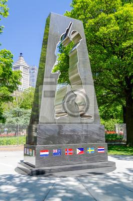 Korejská válka památník veteránů, Battery Park, New York City