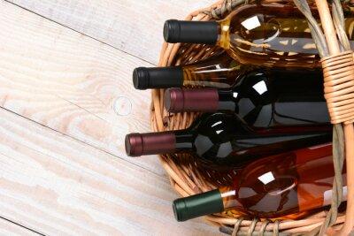 Obraz Koš lahví vína
