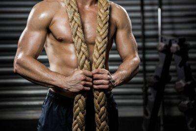 Obraz Košile muž s bojovou provazem kolem krku