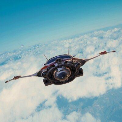 Obraz kosmická loď na modré obloze