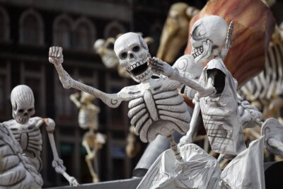 Obraz Kostry Tradiční Den mrtvých v Mexiku
