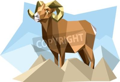 Obraz Kozí v kubistickém stylu