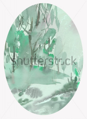 Obraz krajina akvarel