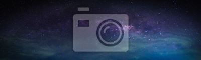 Obraz Krajina s mléčnou galaxií. Noční obloha s hvězdami.