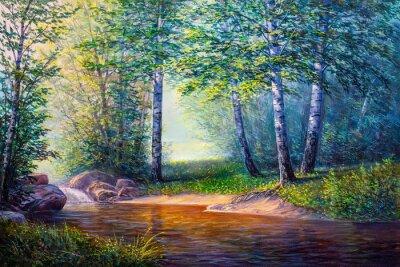 Obraz krajinomalba vodopádu