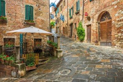 Obraz Krásná alej v Montepulciano, Toskánsko, Itálie