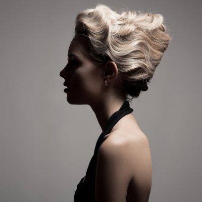Obraz Krásná blondýnka. Retro Fashion obrazu.