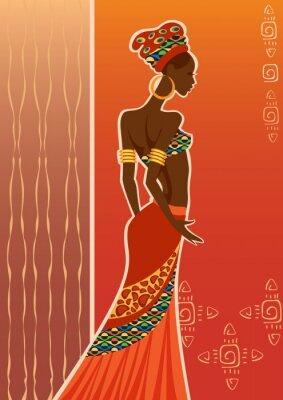 Obraz Krásná černá woman.African žena.