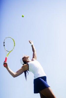 Obraz Krásná tenistka sloužící