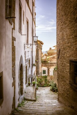 Obraz Krásná ulice Cortona, Toskánsko