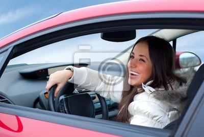 krásná žena jízdy