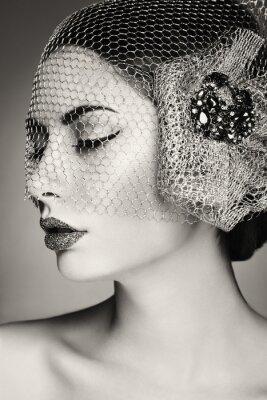 Obraz Krásná ženská tvář. Perfektní make-up