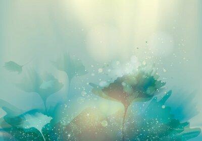 Obraz Krásné abstraktní krajina / Magie květinové pozadí