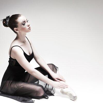 Obraz Krásné baletní tanečník, moderní styl tanečnice na studiu
