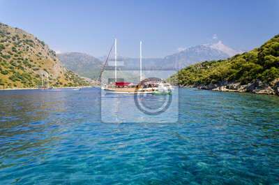 krásné pobřeží v populární turecké letovisko - Oludeniz