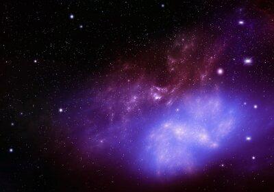 Obraz krásné pozadí noční oblohy hluboko vesmíru