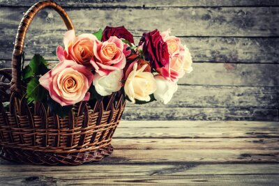 Obraz Krásné růžové květy