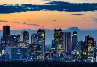 Obraz Krásné Silueta Tokyo Skyline at Twilight
