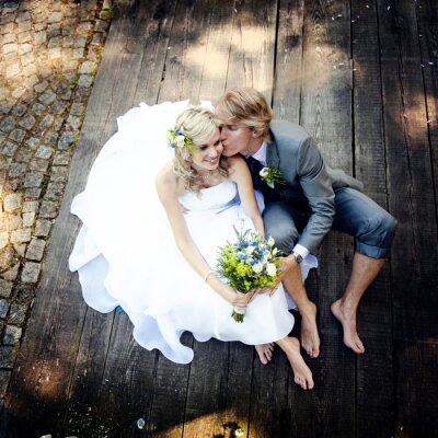 Obraz Krásné svatební pár