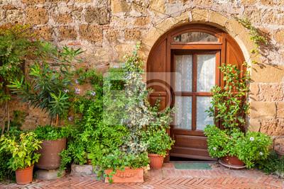Krásně zdobené veranda v Toskánsku