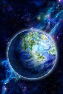 Obraz Krásné Země je ve vesmíru