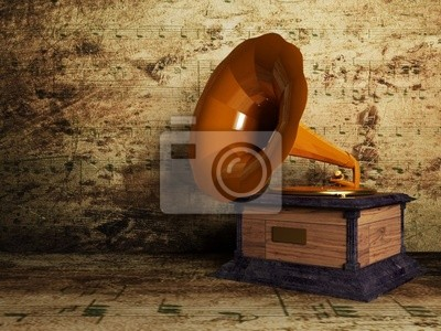 krásný starý gramofon