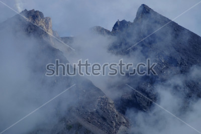 Obraz Kráter Mount Merapi. Sleman Yogyakarta, Indonésie.