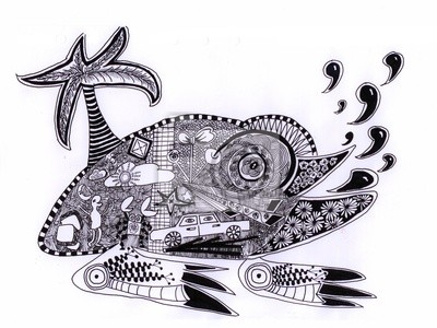 Kreativní grafika žába