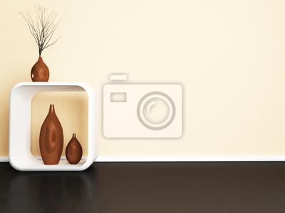 kreativní stůl a vázy