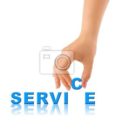 Krém na ruce a slovo servis