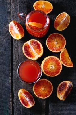 Obraz Krevní pomeranče se šťávou