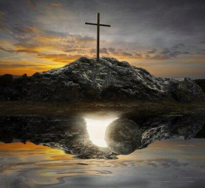 Obraz Kříž a prázdný hrob