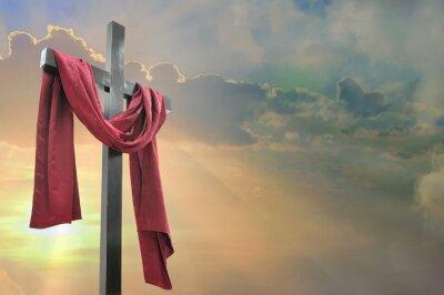 Obraz kříž proti obloze