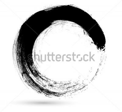Obraz Kruh štětce Zdvih. Šablona návrhu šablony vektoru. Vířivé tvary.