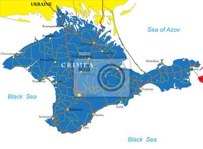 Krym mapa
