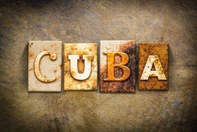 Obraz Kuba Concept Knihtiskový Kožené Theme