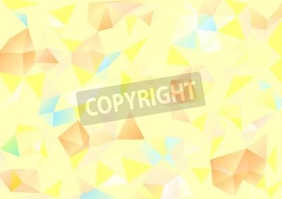 Obraz Kubismus pozadí Světle žlutá a oranžová modrá
