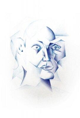 Obraz Kubistická Face
