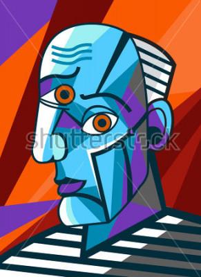 Obraz kubistický velký malíř tvář portrétní malba