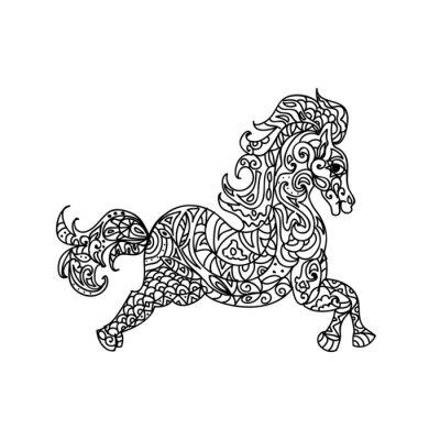 Obraz Kůň zentangle