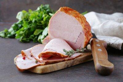 Obraz kus pečeného masa (HAM) s pepřem a tymiánem
