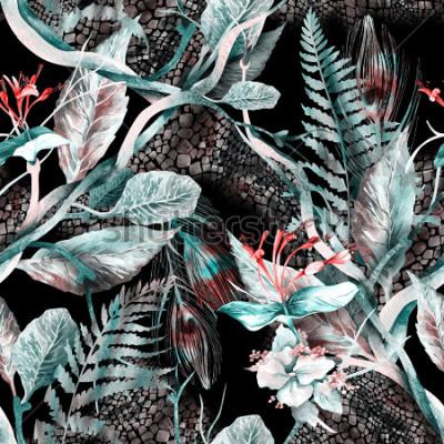 Obraz Květinové bezešvé vzorek