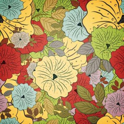 Obraz Květinové bezproblémové Grunge Barevný vzor