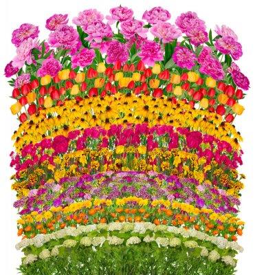 Obraz Květinové vlny fantastický postel izolované