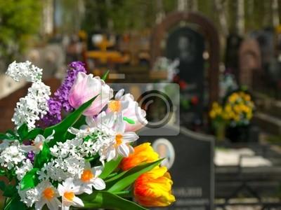 Květiny a hřbitov