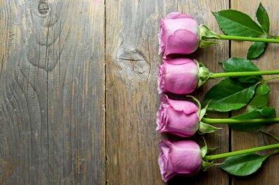 Obraz Květiny na dřevo zázemí s prostorem pro text