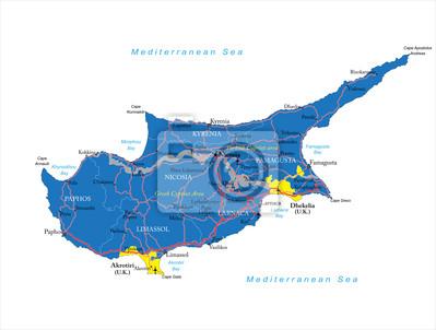 Kypr mapa